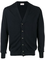 Moncler Knitted Cardigan Blue
