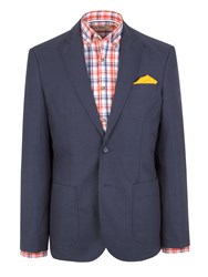 Gibson N Atextured Button Blazer Navy