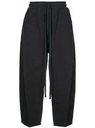 Julius Cropped Drawstring Trousers Blue