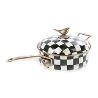 Mackenzie Childs Courtly Check Enamel Saute Pan