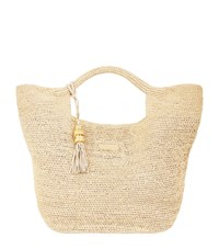 Heidi Klein Grace Raffia Bucket Bag Black