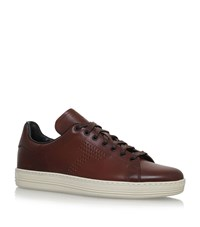 Tom Ford Warwick Leather Sneakers Male Brown
