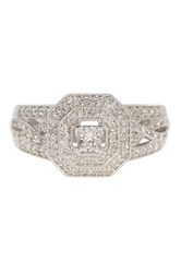 Allora Diamonds Platinaire Pave And Princess Cut Diamond Ring 0.50 Ctw Metallic
