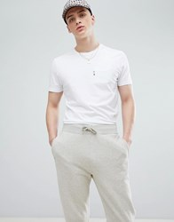 Aquascutum London Wilmslow One Pocket T Shirt In White