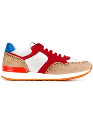 Eleventy Panelled Sneakers Multicolour