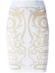 Versace Jeans Stylised Design Skirt White