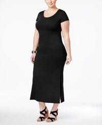 Style And Co Plus Size T Shirt Maxi Dress Only At Macy's Deep Black