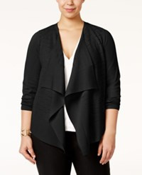 Alfani Plus Size Draped Cardigan Only At Macy's Deep Black