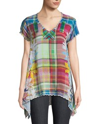 Johnny Was Linko Babydoll Plaid Tunic Plus Size Multi B