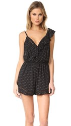 Free People One Of These Days Romper Black Combo