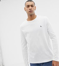 Jack Wills Long Sleeve Logo T Shirt In White Exclusive At Asos