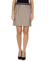 Schumacher Knee Length Skirts Grey