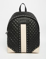 Love Moschino Quilted Panel Backpack Black