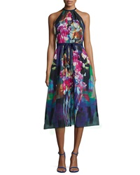 Kay Unger New York Tea Length Floral Print Dress