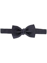 Lanvin Dotted Bow Tie Blue
