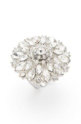 Natasha Couture Women's Crystal Flower Ring