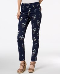 Charter Club Bristol Printed Skinny Ankle Jeans Created For Macy's Aqua Water Combo