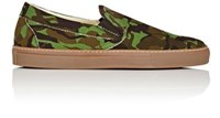 Barneys New York Men's Slip On Sneakers Green