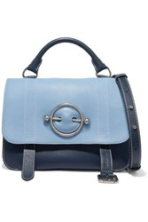 J.W.Anderson Jw Anderson Disc Two Tone Leather Shoulder Bag Sky Blue