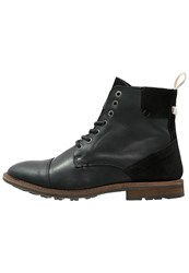 Selected Homme Shntravis Laceup Boots Black
