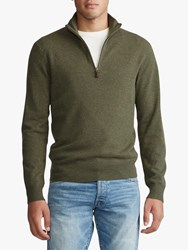 Ralph Lauren Polo Half Zip Merino Jumper Loden Heather