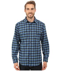 Mountain Khakis Peaks Flannel Shirt Midnight Blue Men's Clothing
