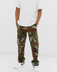 Element Fort Cargo Pant In Camo Green