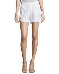 Mih Jeans Amas Mid Rise Shorts White