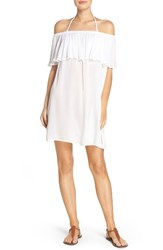 Hinge Women's Off The Shoulder Cover Up Dress White
