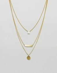 Made Dainty Trio Layered Necklace Gold
