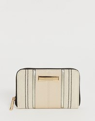 River Island Purse In Cream Beige