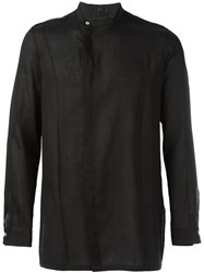 The Viridi Anne The Viridi Anne Off Centre Fastening Shirt Black