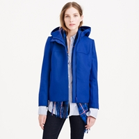 J.Crew Petite Wool Melton Hooded Bib Jacket