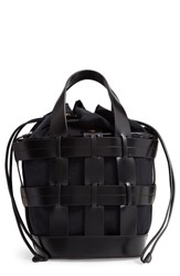 Trademark Cooper Cage Leather And Nylon Tote Black Black W Navy