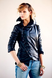 Umit Unal Military Leather Jacket