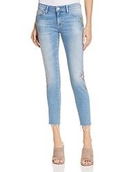 Mavi Jeans Adriana Skinny Ankle In Light Embroidery