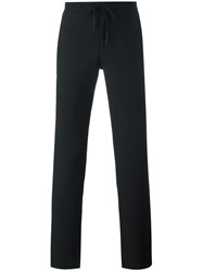 Maison Martin Margiela Flannel Drawstring Trousers Black