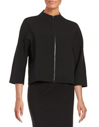 Ellen Tracy Front Zip Cardigan Jacket Black