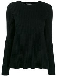 Allude Ribbed Design Jumper Black