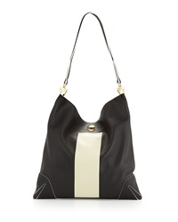Rag And Bone Sullivan Paint Stripe Hobo Bag Black Rag And Bone