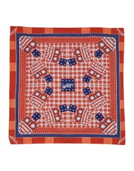 Levi's Red Tab Square Scarves Blue