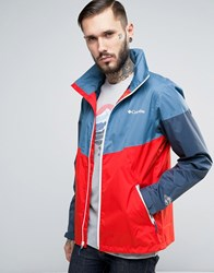 Columbia Inner Limits Hooded Jacket Waterproof Tricolour In Blue Red Blue