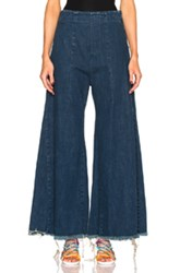 Chloe Chloe Acid Wash Denim Pants In Blue