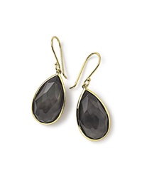 Ippolita 18K Rock Candy Single Teardrop Earrings In Black Shell Gold