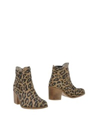 Ganni Ankle Boots Camel