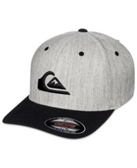 Quiksilver Men's Mountain And Wave Embroidered Logo Flexfit Hat Grey