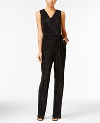Ny Collection Petite Crinkled Jumpsuit Only At Macy's Onyx Beautiful