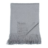 Dkny Mohair Look Throw Grey