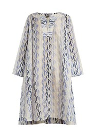 Thierry Colson Rock The Boat Printed Dress Blue Multi