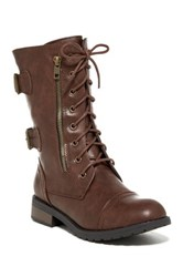 Refresh Terra Lace Boot Brown